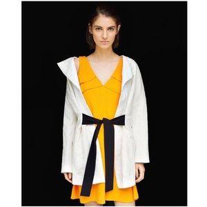 ZARA BASIC COLLECTION Long Jacquard Blazer w/ Belt